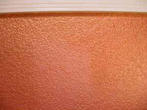 "Close up of brilliant metal paint in ""Copper Gleam"""